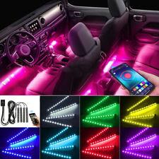 Music Car Interior Lights LED Strip Light 4pcs 36 LED DIY Color Remote Control