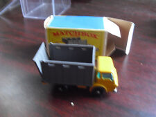 Vintage 1960s Matchbox Cattle Truck 37 Mint with Box