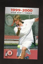 Utah Utes--1999-00 Tennis Pocket Schedule