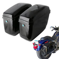 Universal Hard Bags Motorcycle Saddlebags Luggage Bag for Harley Suzuki Honda