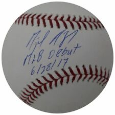 "MIGUEL ANDUJAR Autographed New York Yankees ""MLB Debut 6/28/17"" Baseball STEINER"