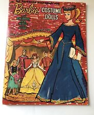 Vintage 1964 Barbie Costume Dolls Paper Dolls ~ Nicely Punched