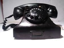 VINTAGE BLACK BAKELITE ERICSSON RUEN PTT HOLLAND ROTARY DESK TELEPHONE PHONE