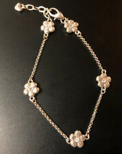 Flower Crystal Anklet Adjustable New listing Brighton Silver Tone Daisy