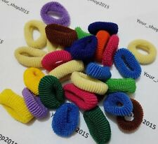 27 ELASTIC HAIR BANDS PACK GIRLS PONY TAIL HAIRBAND COLOUR SMALL LADIES