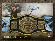 2017 Topps Legends Of WWE CHRIS JERICHO Auto Gold Championship Relic #d /10 AEW