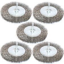 Yutnqin 5PC Stainless steel Wire Wheel Brush for power-operated grinders