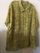 Jennifer Moore Silk Shirt 22W excellent