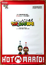 Mario And Luigi Superstar Saga RARE GBA 51.5 cm x 73 cm Japanese Promo Poster #1
