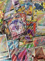 Pokemon TCG 100 Card Lot No Dupicates! *Possible EX GX V Full Art Secret Rare*