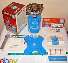 CAMPING GAZ Camp Stove S 200 S With Windscreen, Box,Manual, Base-Near Mint!