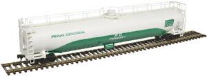 Atlas HO Scale ACF 33,000 Gallon Tank Car Penn Central(Jade Green/White) #799001