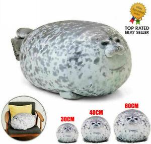 Chubby Blob Seal Plush Doll Pillow Stuffed Cartoon Cute Gift