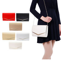 Women's Bling Glitter Leather Purse Cocktail Party Evening Wedding Bag Clutch