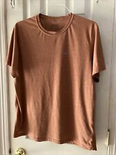 Patagonia Mens Rust Copper Color Ss Poly Lightweight T Shirt Sz Xl
