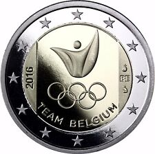 Belgien 2 Euro Gedenkmünze 2016 PP Belgisches Team bei der Olympiade in Rio