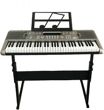 61 Key Piano Electronic Keyboard ,Digital Musical Instrument W/ Stand+Microphone