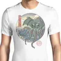 Japanese Ancient Ukiyo-E Great Wave Off Kanagawa Art Mashup Funny White T-Shirt