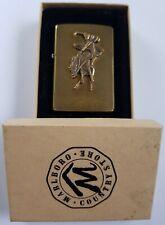 Genuine Brand New Brass Marlboro Bucking Bronco Zippo Lighter