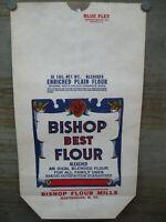 Antique Vintage 10lb Bishop Best Flour Sack Bag Martinsville West Virginia #13