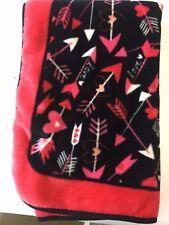 Throw Blanket Hearts Arrows Love Theme Cozy Soft Ashford Textiles Inc