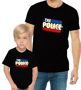 The Police Rock Band Adults Man & Women & Youth & Kids & Boy & Girl T-Shirt