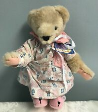 Fluffy Vanderbear The Pajama Game W/Tags Jointed Teddy Bear Soft Clean Dressed
