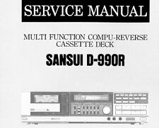 SANSUI D-990R MF ST C Rev cassette deck service manual Inc SCMS Imprimé ENG