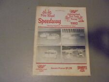 1992 PORT ROYA; SPEEDWAY RACING PROGRAM, PA. DIRT RACING,LATE MODELS,SPRINTS