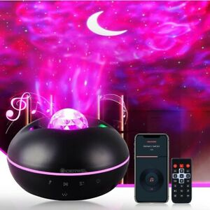 3 in 1 Galaxy Star/ Moon/ Ocean/ Wave Projector with Bluetooth Music Speaker