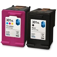 Remanufactured HP 301XL Black & Colour Ink Cartridges for use with HP Printers