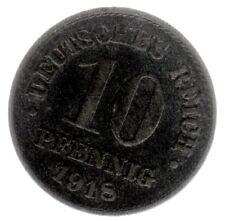 10 Pfennig Zink Ersatzgeld 1. WK 1918 in sehr schön/vorzüglich (zaponiert)