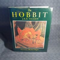 J.R.R. Tolkien ~ THE HOBBIT ~As New HC~ ILLUSTRATED & SIGNED BY MICHAEL HAGUE