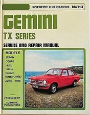 HOLDEN ISUZU GEMINI TX Auto Owners Workshop Service Repair Manual PDF on CD-R