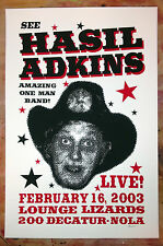 Hasil Adkins gig poster New Orleans rockabilly Cramps psychobilly
