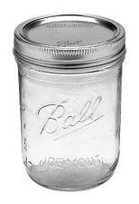 6 x Ball Mason Wide Mouth Pint (475ml) Jars Lids BPA Free Jam Weddings Candles