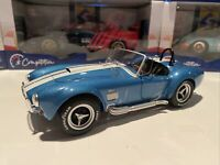 Solido 1:18 1965 Shelby AC Cobra 427 MKII Metallic Blue w White Stripes S1850017