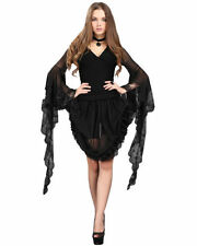 Waist Length Polyester Gothic T-Shirts for Women