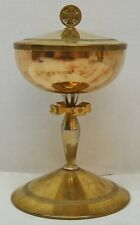 GOLD PLATED CIBORIUM CUP STERLING - 417 - (CHURCH CHALICE HOST WINE COMMUNION)