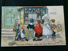 FRY'S CHOCOLATE TOM BROWNE ADVERTISING POSTCARD