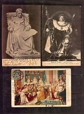 NAPOLEON BONAPARTE 3 OLD VINTAGE POSTCARDS CA 1900 STABIO SWITZERLAND