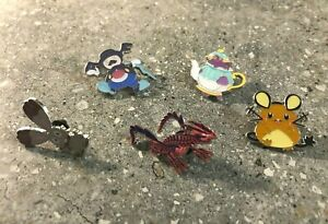 Pokemon TCG Lot of 5x Official Collectable Metal Pins Eternatus & Mad Party New