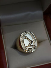 14ct gold signet ring - large 14x18mm oval face - seal engraved in reverse
