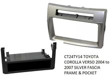 CT24TY14 TOYOTA COROLLA VERSO 2004 to 2007 SILVER FASCIA FRAME & POCKET