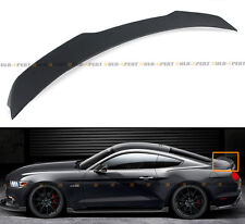 For 2015-17 Ford Mustang S550 H Style Primer Finish ABS Rear Trunk Spoiler Wing