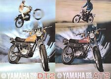 1972 YAMAHA DT2 AT2 250 125 ENDURO SALES AD/ BROCHURE
