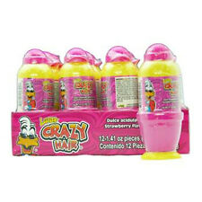 Lucas Crazy Hair Strawberry Sour Candy 1.41 Oz Each ( 12 In A Pack )