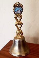 Vintage The Renaissance City Detroit Brass Gold Collectible Souvenir Bell
