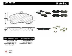 Frt Super Premium Ceramic Brake Pads  Centric Parts  105.07220