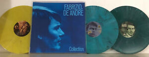 FABRIZIO DE ANDRE' COLLECTION 3X LP LTD MULTICOLOR MCV VINYL FOLD OUT COVER RARE
